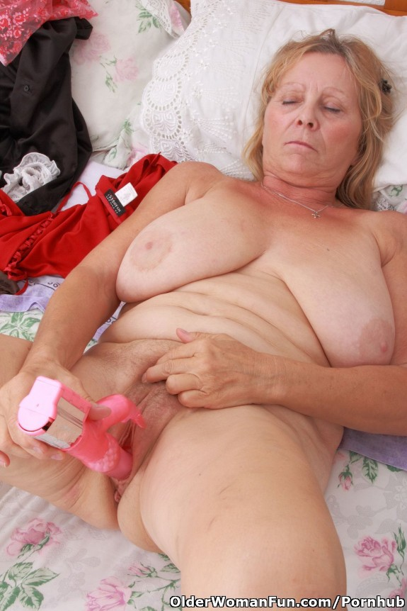 Hot 67 year old cougar getting fucked by 29 year old cub